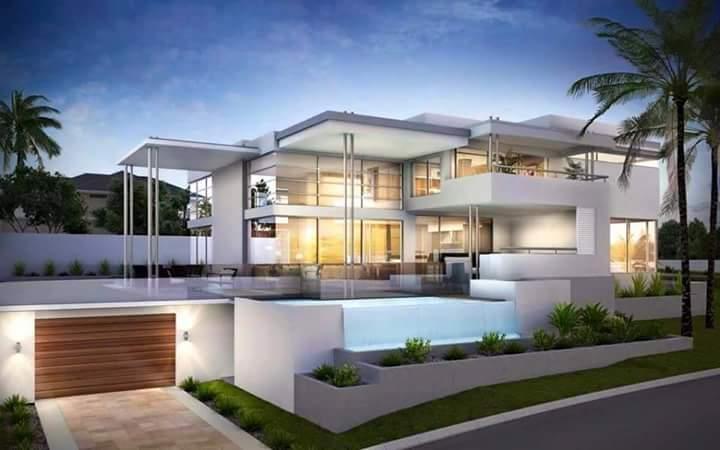 Desain Rumah Minimalis Dengan Halaman Luas desain rumah mewah gaya 2 lantai desainbangunpalembang com